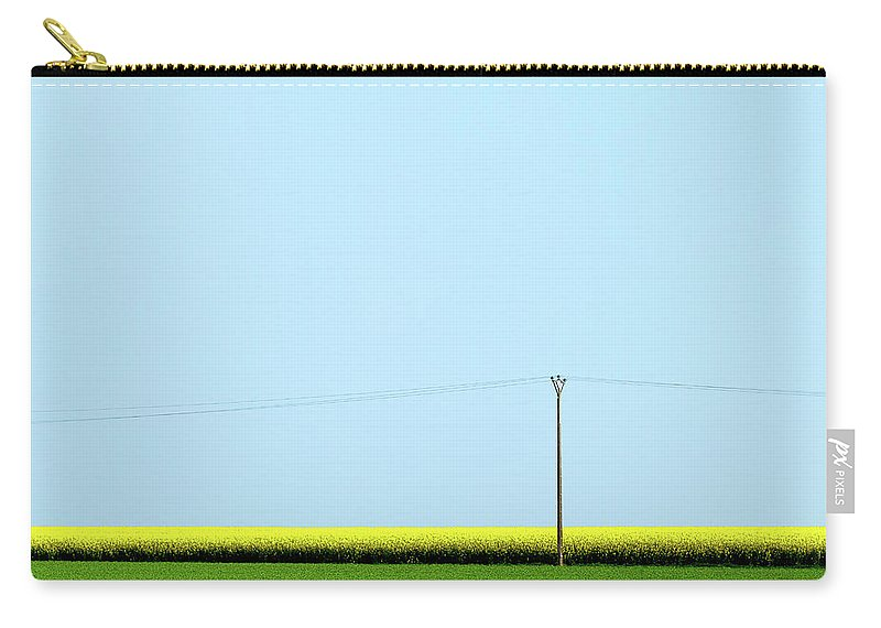 Mustard Grass Carry-all Pouch featuring the photograph Mustard Sandwich by Dave Bowman