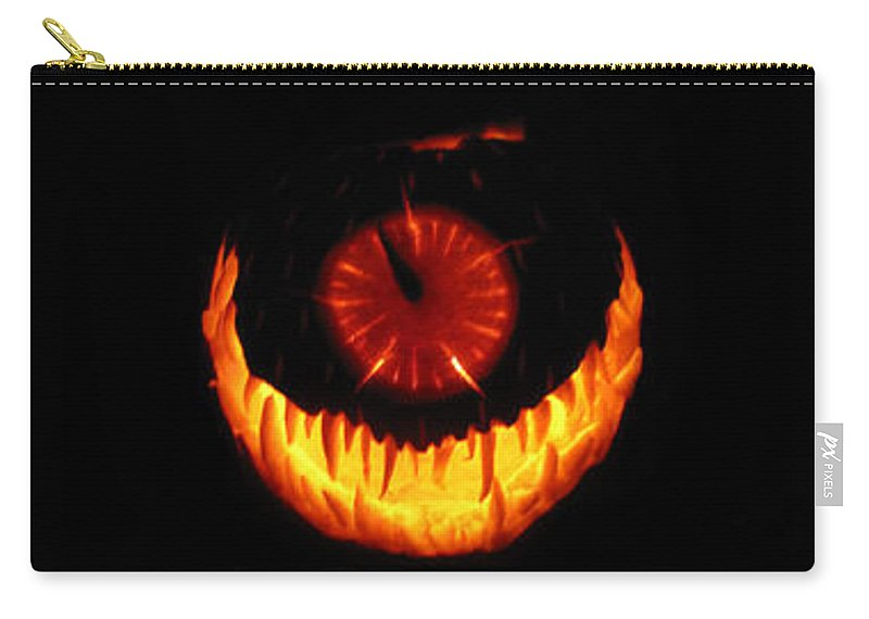 Pumpkin Carry-all Pouch featuring the sculpture Mutant Strawberry Clock by Shawn Dall