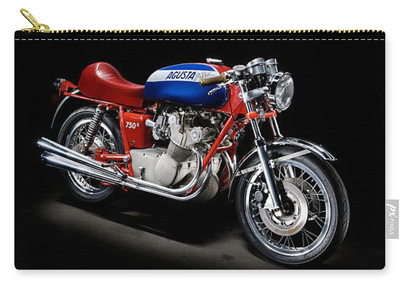 Motorcycle Carry-all Pouch featuring the photograph Mv Agusta 750 S by Frank Kletschkus