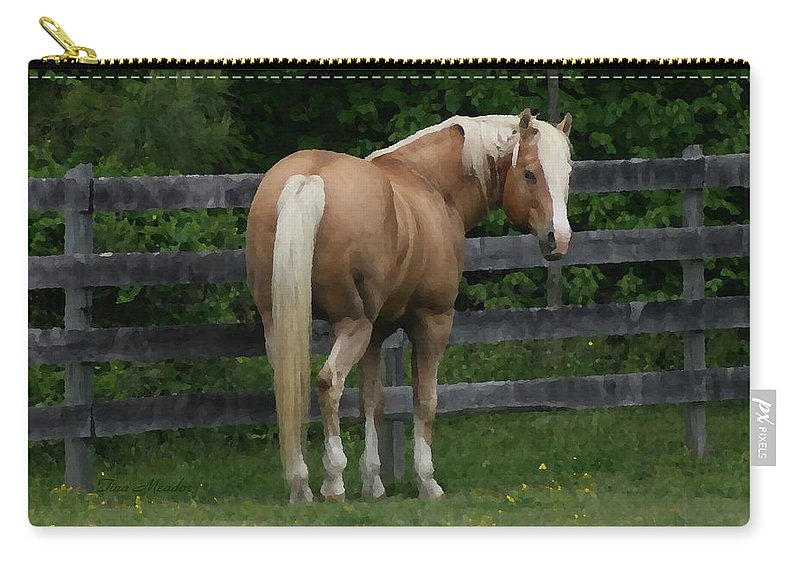 Horse Carry-all Pouch featuring the digital art My Dream Horse by Tina Meador
