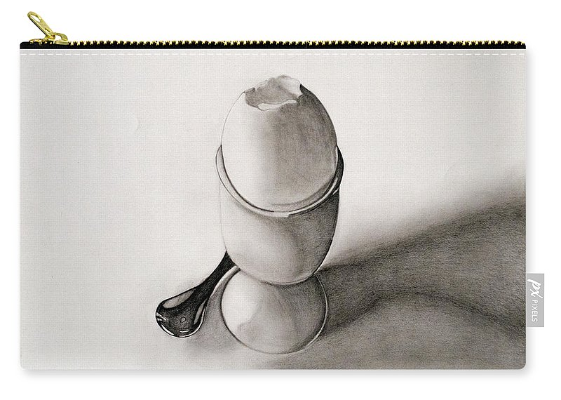 Egg Carry-all Pouch featuring the drawing My Egg by Teri Schuster