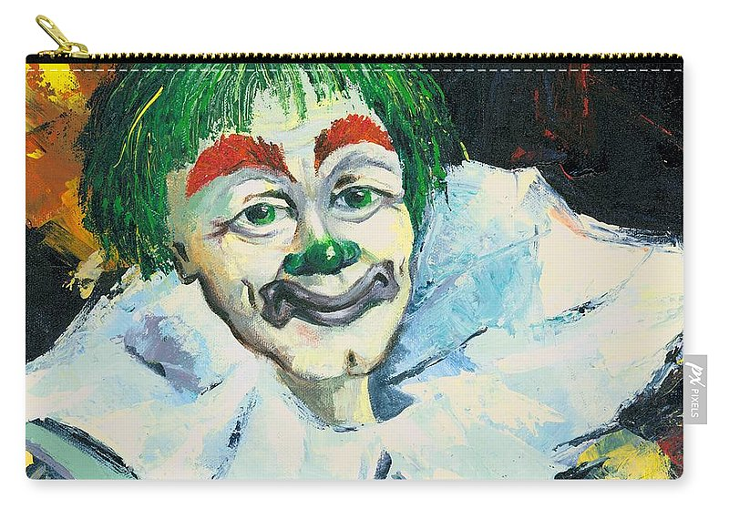 Canvas Prints Carry-all Pouch featuring the painting My Friend by Elisabeta Hermann