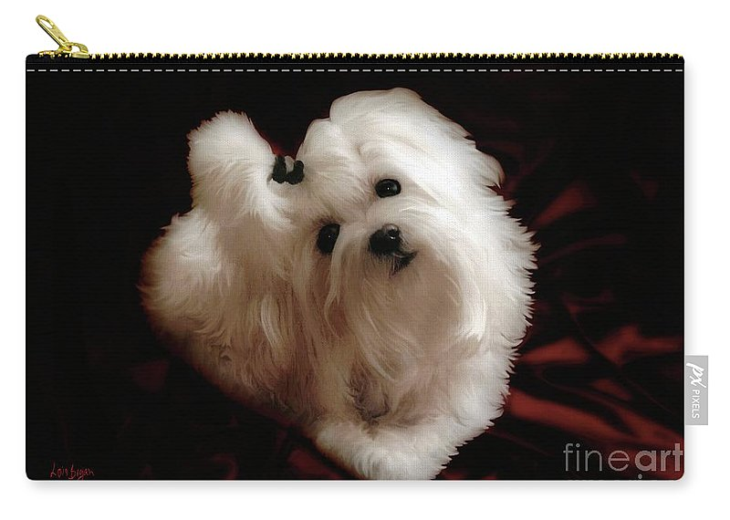 Dog Carry-all Pouch featuring the photograph My Heart My Muse by Lois Bryan
