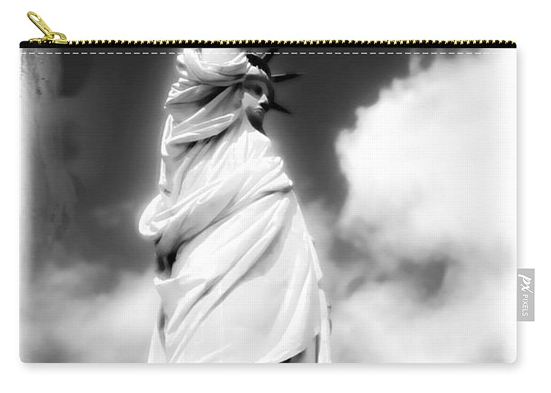 Statue Of Liberty Prints Carry-all Pouch featuring the photograph My Lady Liberty by Janie Johnson