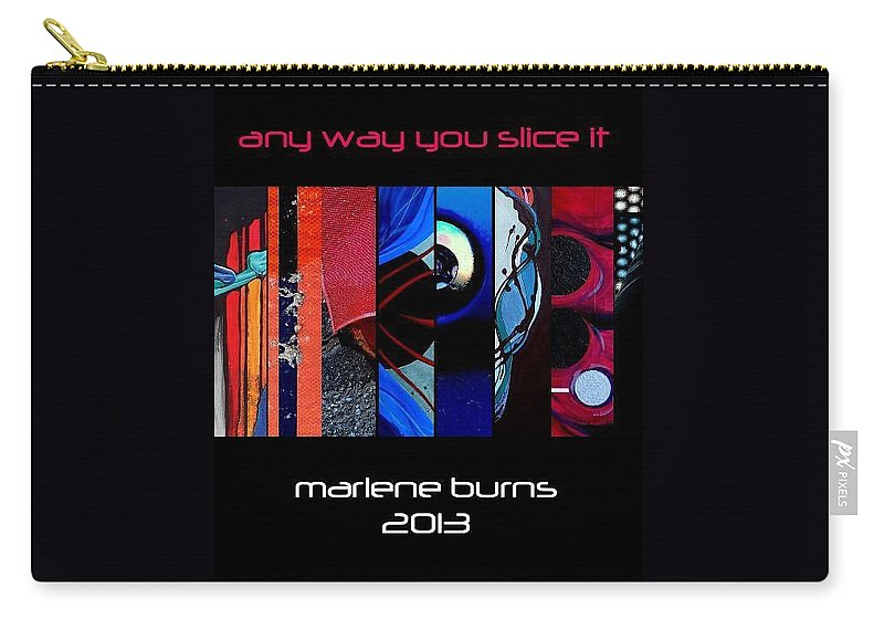 Any Way You Slice It Carry-all Pouch featuring the photograph My Latest Book by Marlene Burns