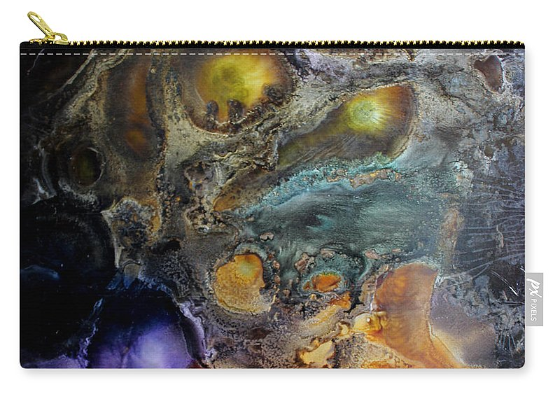 Nebula Carry-all Pouch featuring the painting My Life In Rhyme by Kim Peto