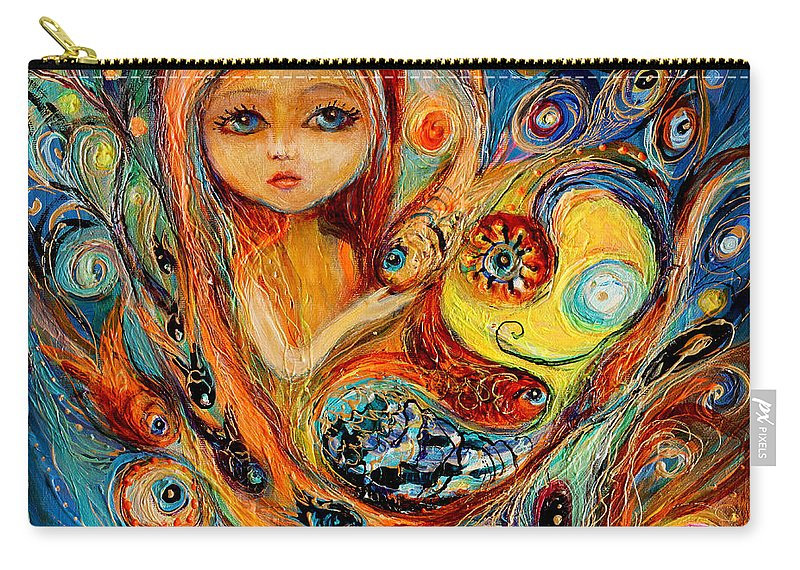 Carry-all Pouch featuring the painting My Little Mermaid Betsy by Elena Kotliarker