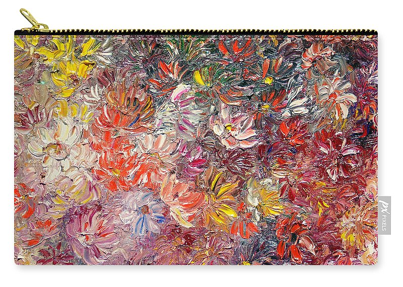 Abstract Carry-all Pouch featuring the painting My Pretty Pallet by Karin Dawn Kelshall- Best