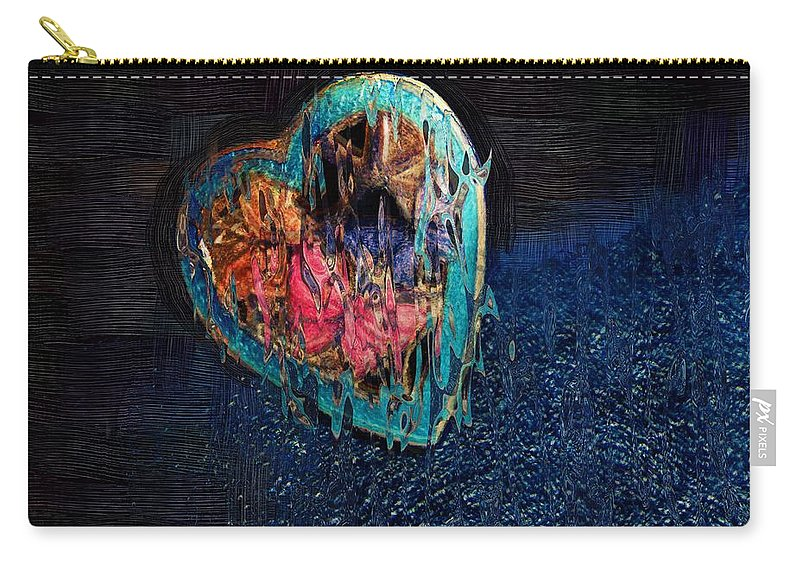 Heart Carry-all Pouch featuring the painting My Rough Imperfect Heart by RC DeWinter