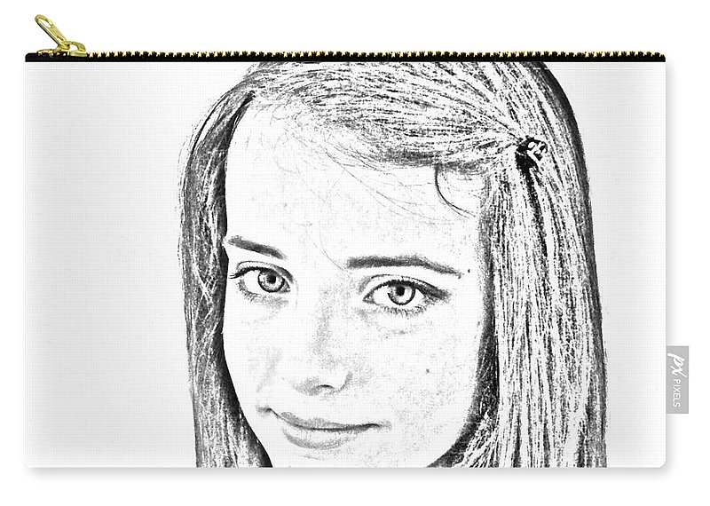 Face Carry-all Pouch featuring the digital art My Secret by Mair Hunt