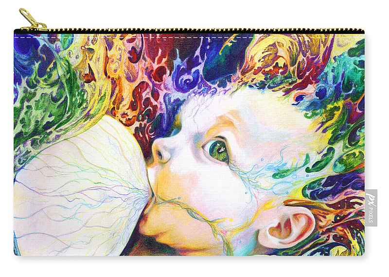 Dreams Carry-all Pouch featuring the mixed media My Soul by Kd Neeley