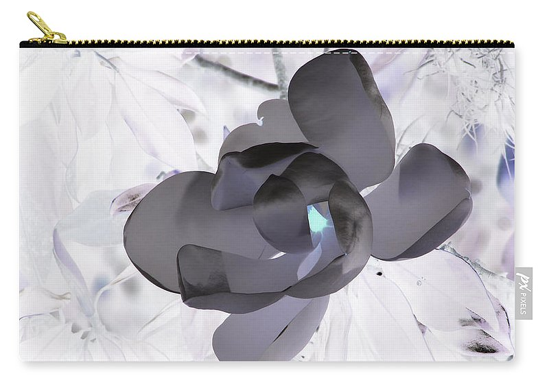 Magnolia Carry-all Pouch featuring the photograph My Steel Magnolia by Debi Singer