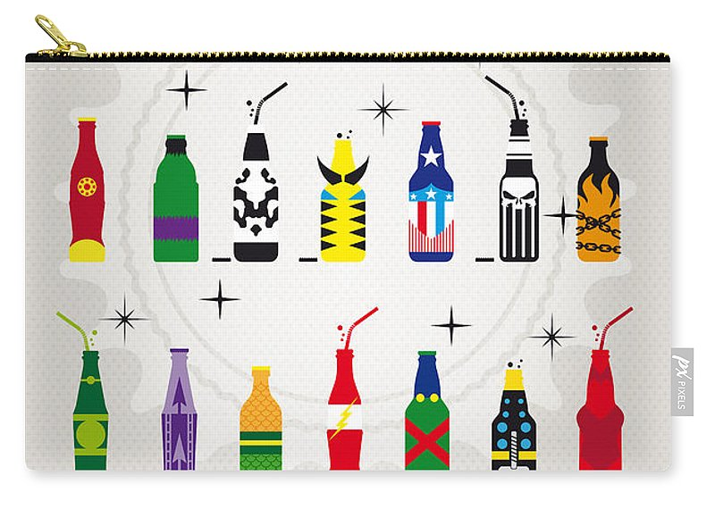 Icepops Carry-all Pouch featuring the digital art My Super Soda Pops No-00 by Chungkong Art