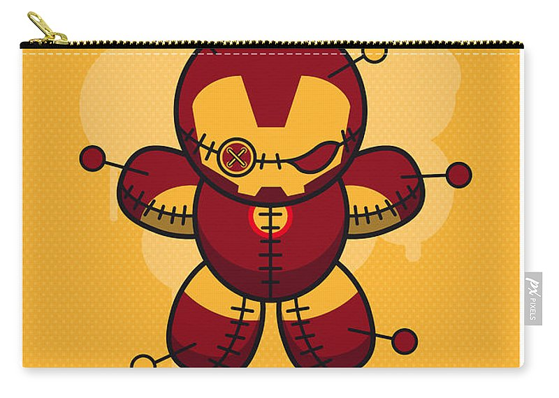 Voodoo Carry-all Pouch featuring the digital art My Supercharged Voodoo Dolls Ironman by Chungkong Art