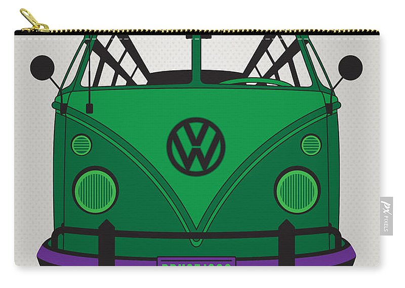 Superheroes Carry-all Pouch featuring the digital art My Superhero-vw-t1-hulk by Chungkong Art