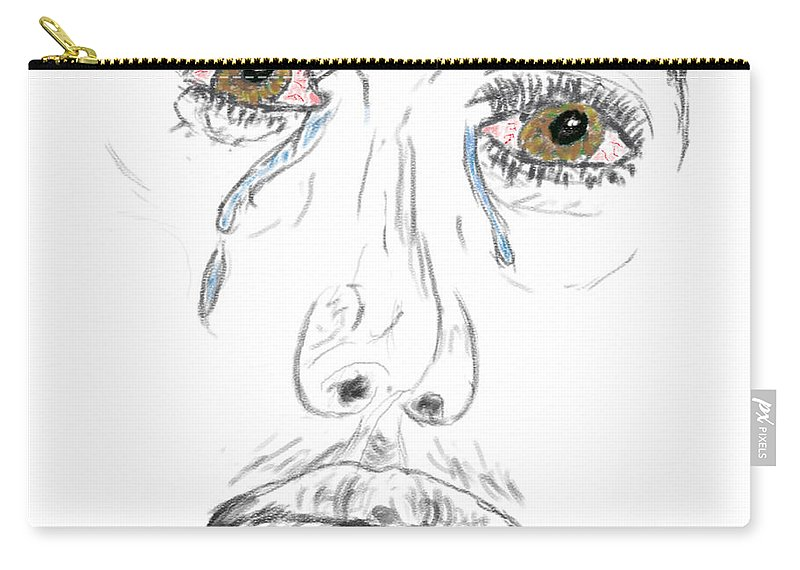 Digital Art Carry-all Pouch featuring the digital art My Tears by Brent Dolliver