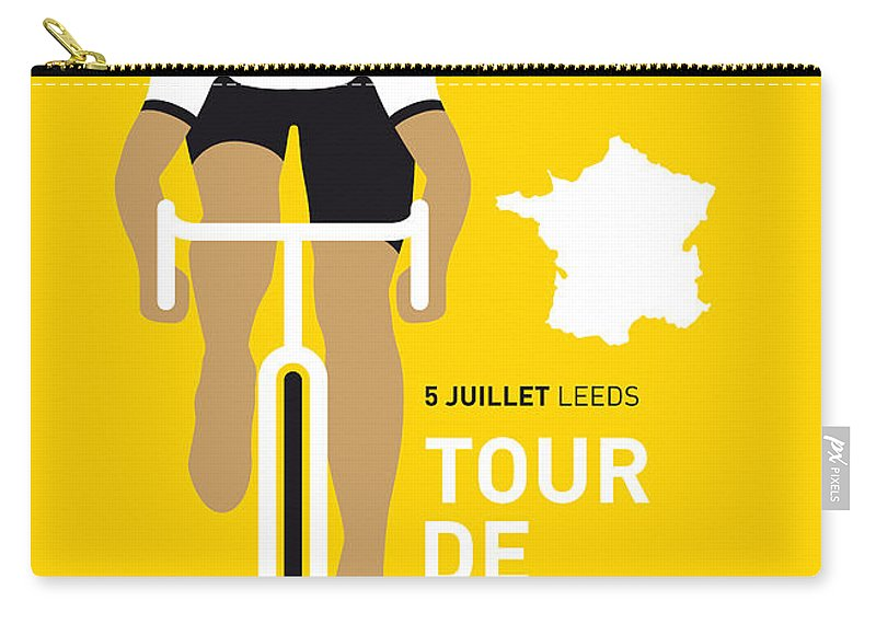 Minimal Carry-all Pouch featuring the digital art My Tour De France Minimal Poster 2014 by Chungkong Art