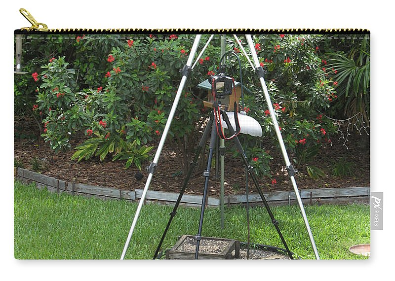 Tripods Carry-all Pouch featuring the photograph My Tripod Can Beat Up Your Tripod by Rich Franco
