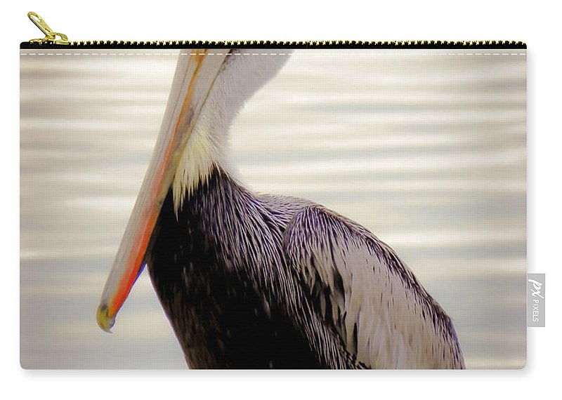 Bird Carry-all Pouch featuring the photograph My Visitor by Karen Wiles