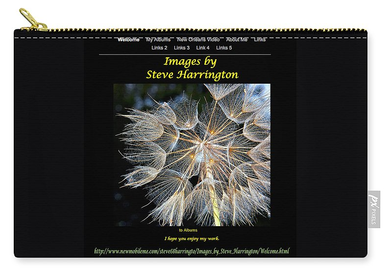 Website Carry-all Pouch featuring the photograph My Website by Steve Harrington