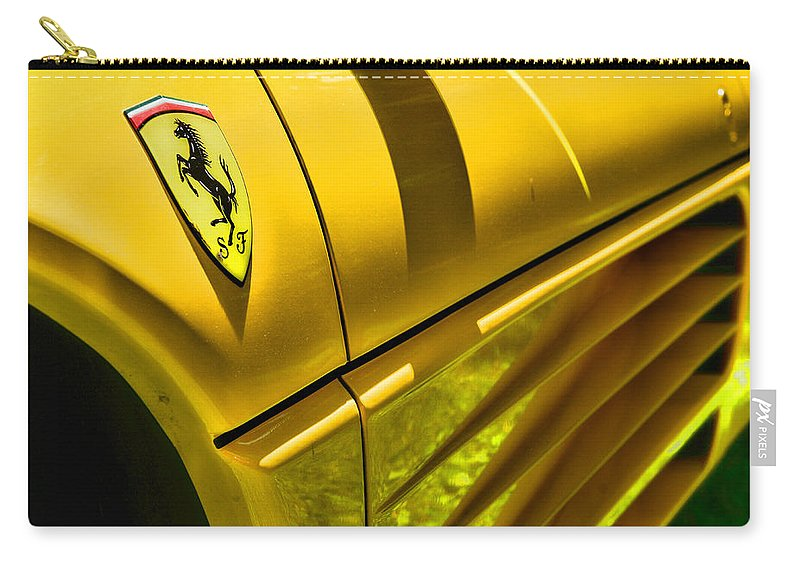 Paul Ward Carry-all Pouch featuring the photograph My Yellow Ferrari by Paul Ward