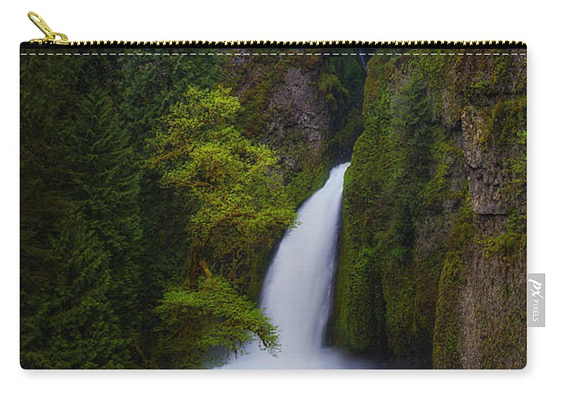 Oregon Carry-all Pouch featuring the photograph Mysteries Of Wahclella by Darren White