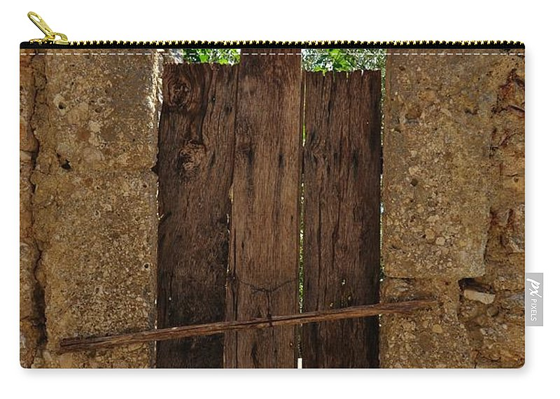 Door Carry-all Pouch featuring the photograph Mysterious Door by Dany Lison