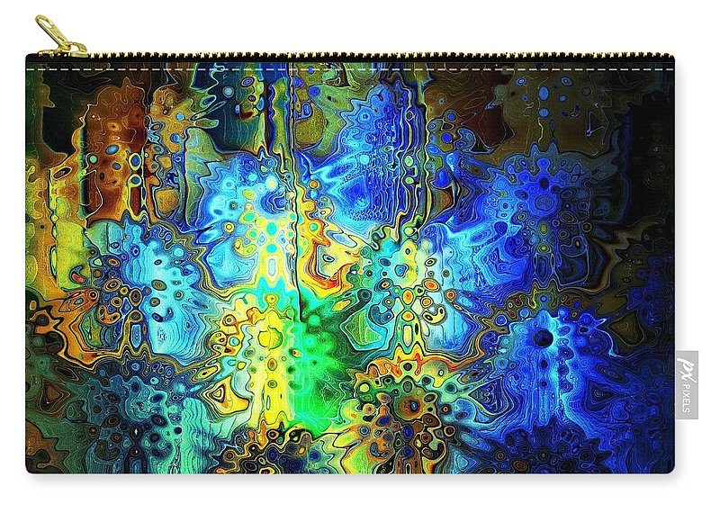 Digital Art Carry-all Pouch featuring the digital art Mysterious Icons by Amanda Moore