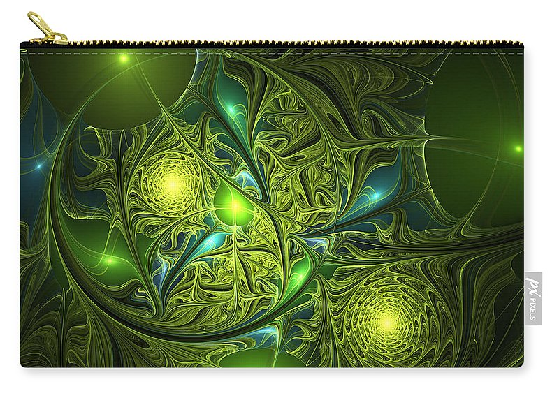 Abstract Carry-all Pouch featuring the digital art Mysterious Lights by Gabiw Art