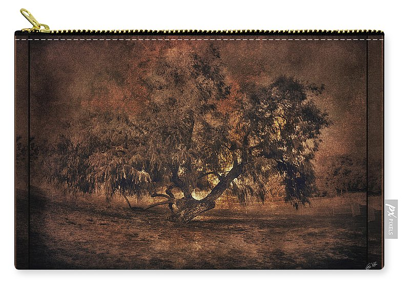 Tree Carry-all Pouch featuring the digital art Mysterious Mesquite by Erika Weber