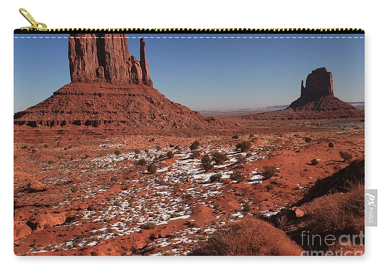 Monument Valley Carry-all Pouch featuring the photograph Mysterious Red Rocks by Adam Jewell