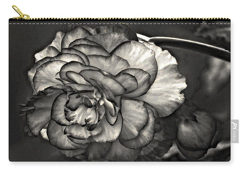 Begonia Carry-all Pouch featuring the photograph Mystery Girl by Steve Harrington