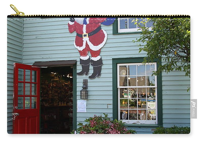 Chrsitmas Shop Carry-all Pouch featuring the photograph Mystic Christmas Shop - Connecticut by Christiane Schulze Art And Photography