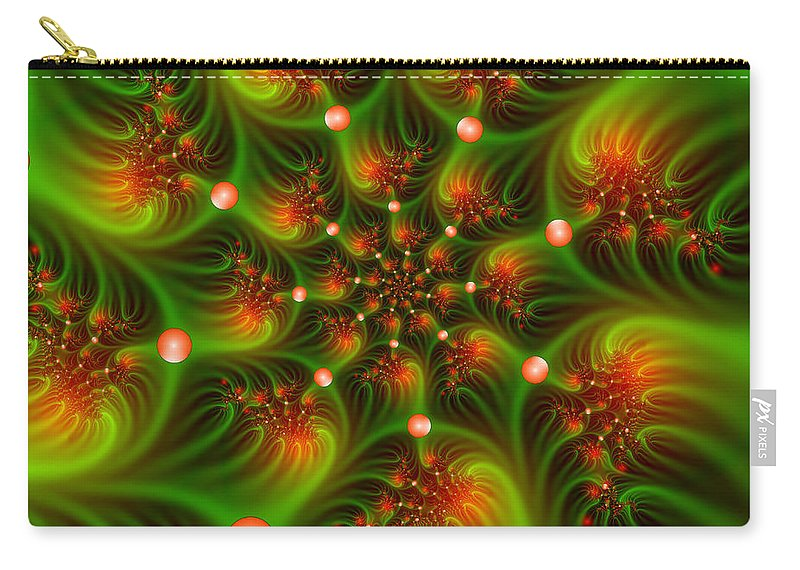 Digital Art Carry-all Pouch featuring the digital art Mystic Lights by Gabiw Art