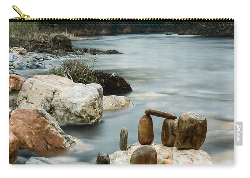 River Carry-all Pouch featuring the photograph Mystic River I by Marco Oliveira