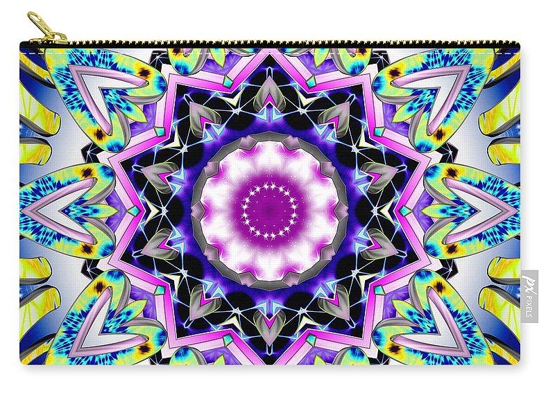 Sacredlife Mandalas Carry-all Pouch featuring the digital art Mystical Essence by Derek Gedney