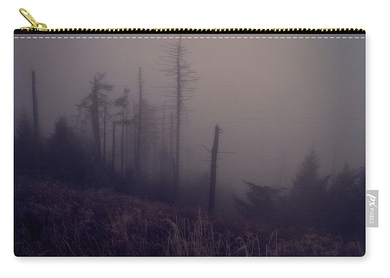 Mystical Morning Fog Carry-all Pouch featuring the photograph Mystical Morning Fog by Dan Sproul