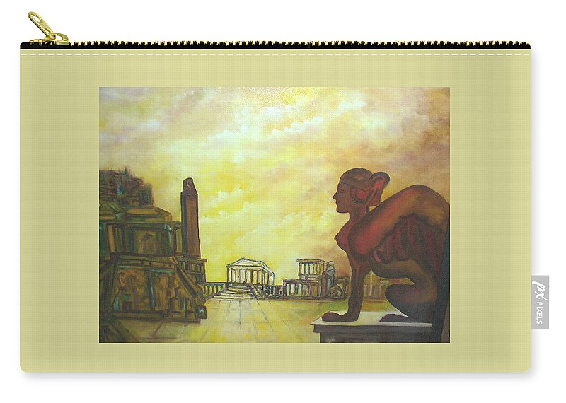 Myth Carry-all Pouch featuring the painting Mythology by Lord Frederick Lyle Morris - Disabled Veteran