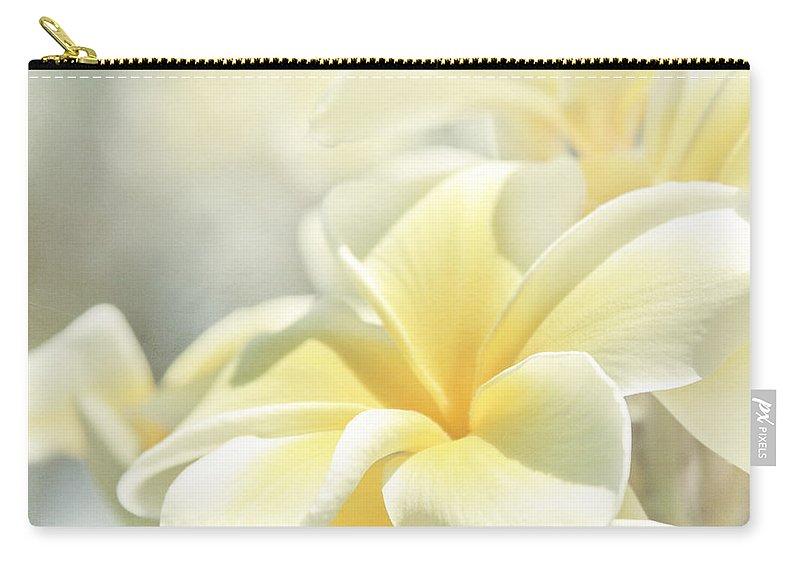 Plumeria Carry-all Pouch featuring the photograph Na Lei Pua Melia Aloha E Ko Lele by Sharon Mau