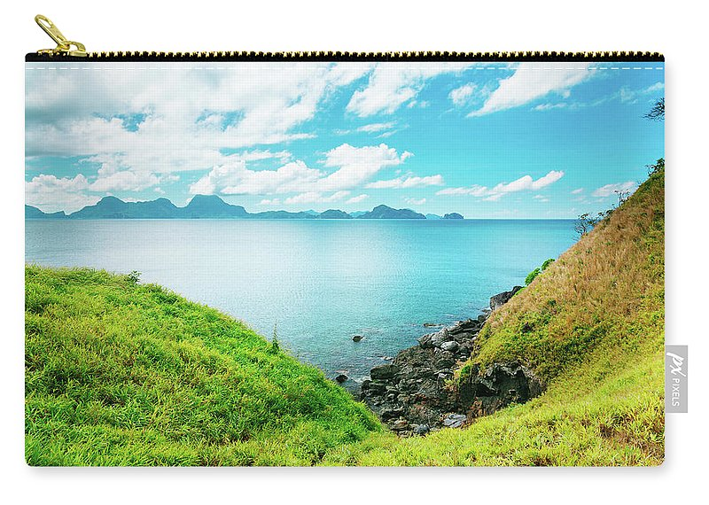 Scenics Carry-all Pouch featuring the photograph Nacpan Beach Hills by Danilovi