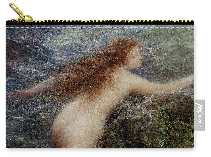Sea Carry-all Pouch featuring the painting Naiade by Ignace Henri Jean Fantin-Latour