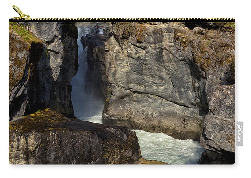 Nairn Falls Carry-all Pouch featuring the photograph Nairn Falls by Kathleen Bishop