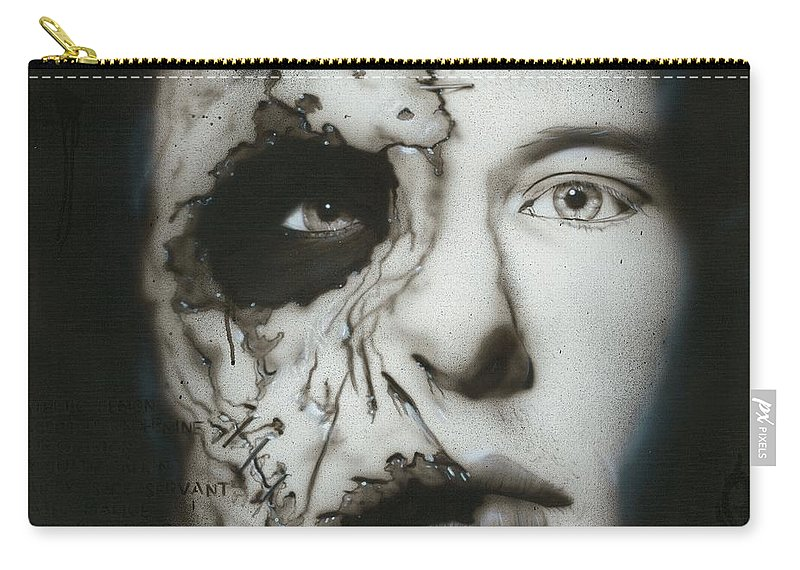 Corey Taylor Carry-all Pouch featuring the painting Nameless by Christian Chapman Art
