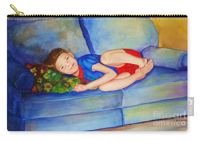 Nap Time Carry-all Pouch featuring the painting Nap Time by Jane Ricker