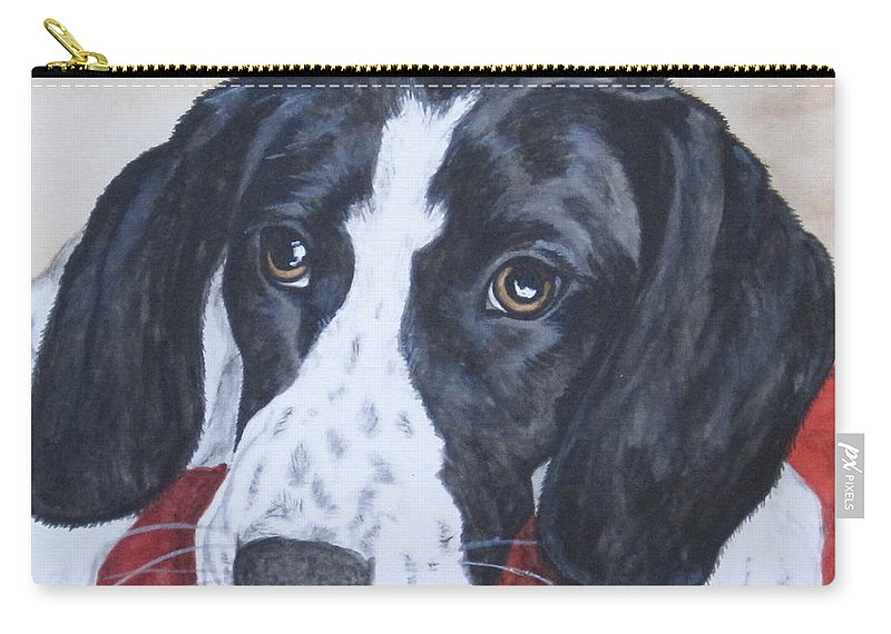 Dog Carry-all Pouch featuring the painting Nap Time by Megan Cohen
