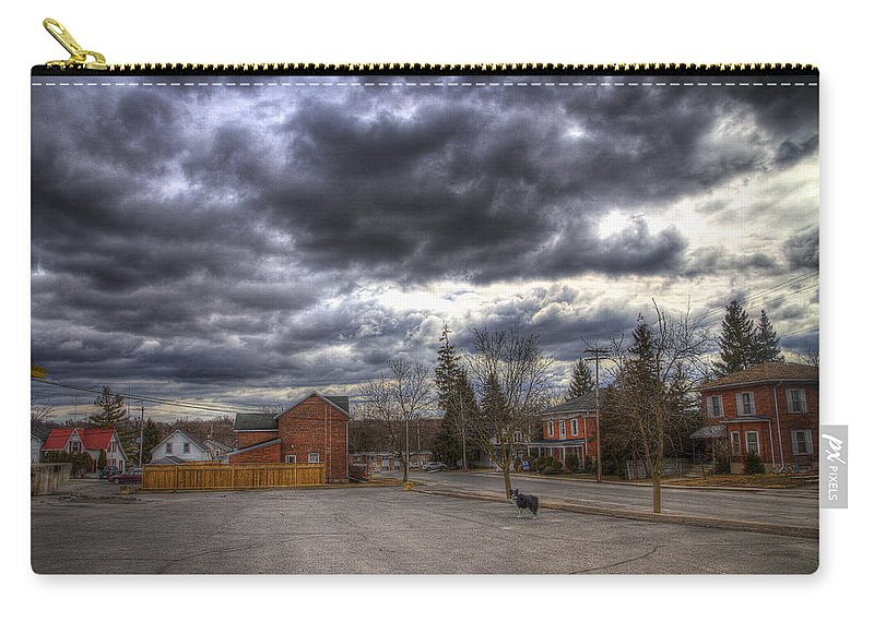 Exterior Carry-all Pouch featuring the photograph Napanee Sky Easter by John Herzog