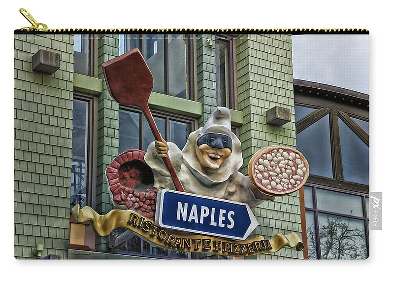 Disney Carry-all Pouch featuring the photograph Naples Pizzeria Signage Downtown Disneyland by Thomas Woolworth