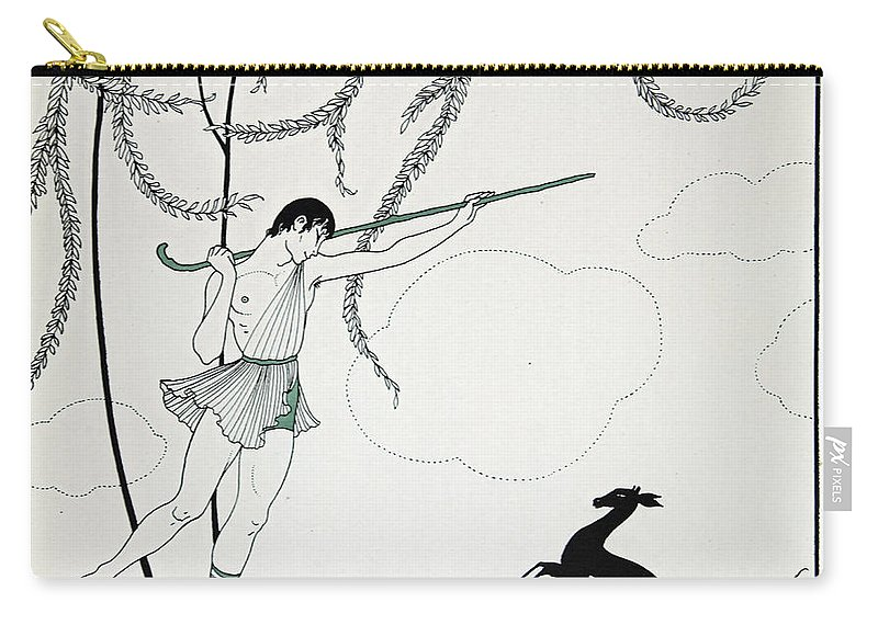 Ballet Carry-all Pouch featuring the painting Narcisse by Georges Barbier