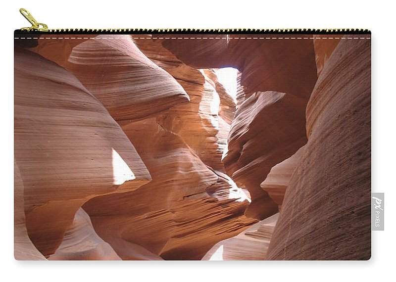 Canyon Carry-all Pouch featuring the photograph Narrow Canyon I by Christiane Schulze Art And Photography