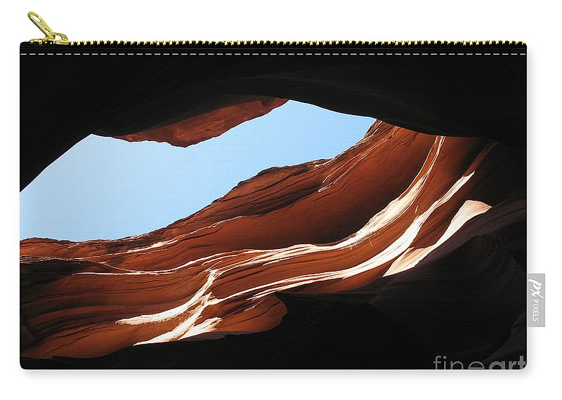 Canyon Carry-all Pouch featuring the photograph Narrow Canyon Vi by Christiane Schulze Art And Photography